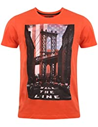 Dissident Men's Walk The Line Graphic Print Short Sleeve Crew Neck Cotton T-Shirt Size S-XL