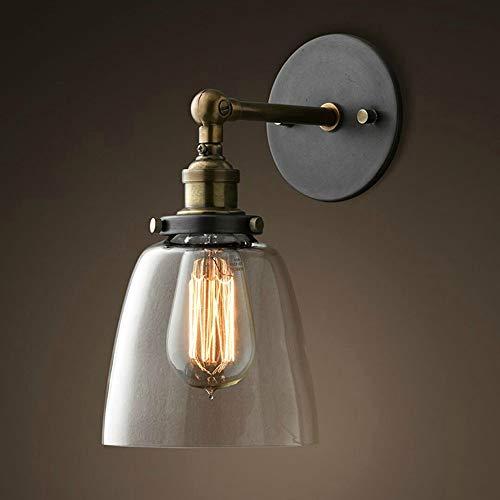 Außenwandleuchten Vintage Glass Wall Sconces Verstellbare Industrielle Edison Wandlampen Retro-Wand Schlafzimmer Treppen Spiegel Lampen E26/E27 Base -