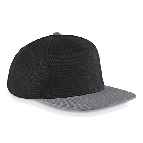 Original Flat Peak Snap-Back Cap Black/Light Grey