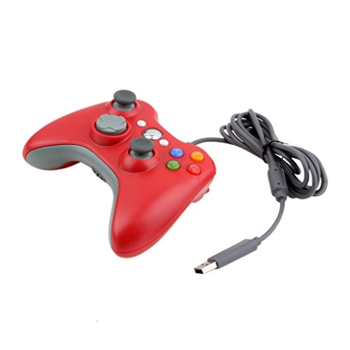 XBOX 360 Control Pad Controller USB Joypad für Microsoft PC Windows Gamepad Rot
