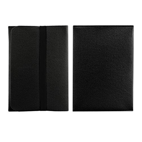 """kwmobile Laptoptasche Filz Sleeve für Apple MacBook Air 13"""" (ab Mitte 2011) - Notebook Tasche Schutzhülle Laptop Case Hülle in Schwarz mit Innentaschen"""