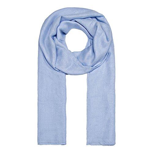 MANUMAR Schal für Damen einfarbig   Hals-Tuch in pastel-blau als perfektes Frühling Sommer Accessoire   Klassischer Damen-Schal   Stola   Mode-Schal   Geschenkidee für Frauen und Mädchen