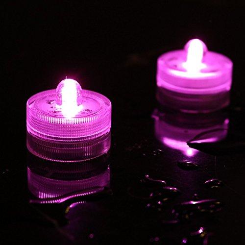 LED flammenlose Teelichter-Batteriebetriebenes Licht-Tauchfähig und wasserdicht für Zuhause, Hochzeiten und Partys 10Stück rose