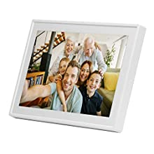"""Denver Electronics PFF-711WHITE Cadre Photos numériques 17,8 cm (7"""") Écran Tactile WiFi Blanc - Cadres Photos numériques (17,8 cm (7""""), 1024 x 600 Pixels, IPS, JPEG, 8 Go, MicroSD (TransFlash))"""