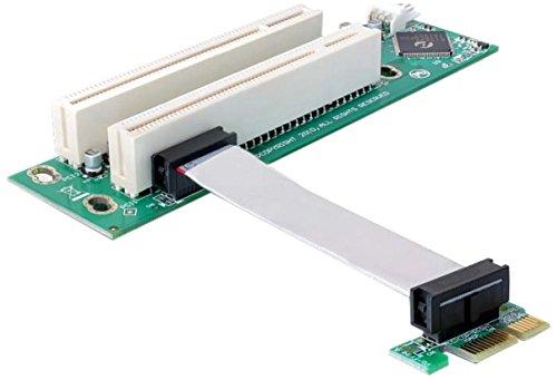 Delock 41341 Riser PCI-Express Karte (1x Slot auf 2X Slot) - Pci-express-x1-karte