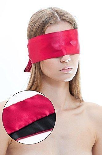SM Satin Augenbinde 150 cm Augenmaske BDSM Sex Spielzeug Bondage Toy Fetisch Sexspiele für Paare Sextoy schwarz rot groß lang