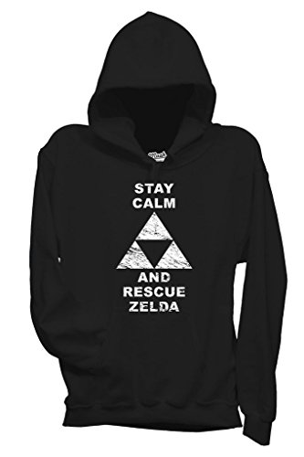 Felpa STAY CALM AND RESCUE ZELDA - GAMES by MUSH Dress Your Style - Donna-M-NERA