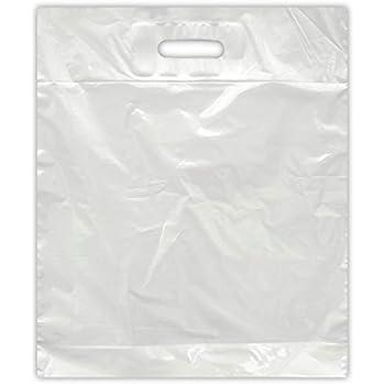 300 Tragetaschen Jumbo weiß  17my Extra stark  30+18x55 cm Plastiktüten Tüten