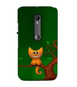 EPICCASE smiling cat Mobile Back Case Cover For Moto X Style (Designer Case)