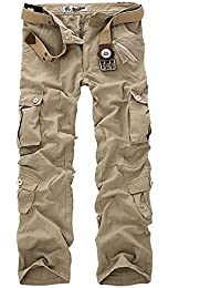 Lannister Fashion Herren Stretch Cargo Hose Ohne Armee Bekleidung  Arbeitshose Bundhose Camouflage Freizeithose Trousers Pants 70b933b585