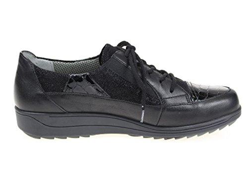 ara  12-26333-01 Meran, Chaussures de ville à lacets pour femme Noir