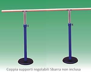 Paire de supports de terre pour barre de danse r glables for Hauteur barre danse classique