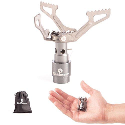 OutSmart, Camping-Herd aus Titan, federleicht und tragbar, Camping-Gaskocher, das perfekte Kochinstrument für 1oder 2Personen