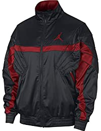 Nike JSW AJ5 Satin JKT - Chaqueta, Hombre, (Black/Gym Red/
