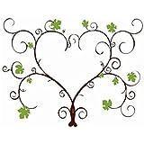 SwirlColor Vides de uva 30 * 40cm personalizado Alternativa libro de invitados de la boda de la huella digital del pulgar Firma pintura del árbol del árbol para la boda (Con almohadilla de tinta)
