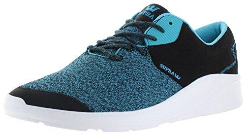 Supra Noiz, Baskets Basses Mixte Adulte Black / blue atoll - white