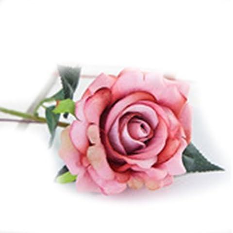 LUFA Plastic Fabric Silk Artificial Rose Flower Arrangement for Wedding Home Décor barbie pink