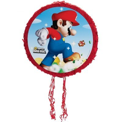 0995 Super Mario Bros. 18 in. Pull-String Pinata (Mario Pinata)