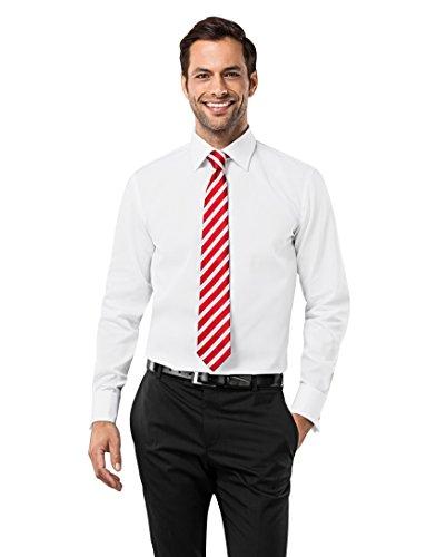 VB -  Camicia classiche  - Basic - Classico  - Maniche lunghe  - Uomo bianco Medium