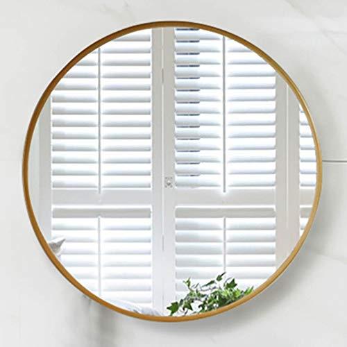 KS Espejo de baño, espejo redondo de pared con marco, imágenes de alta definición, marco engrosado...