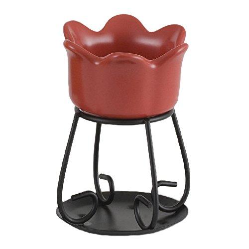 Yankee Candle Brick Red Petal Bowl Tart Burner