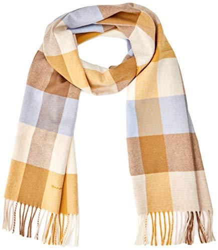 GANT Damen D2. MULTI CHECK SCARF Schal, Honey Gold 759, (Herstellergröße: One Size)