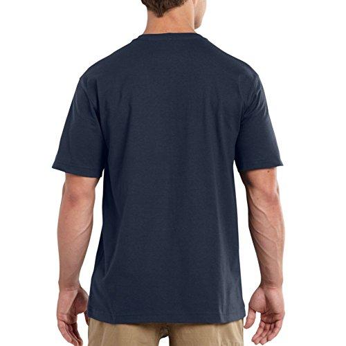 Carhartt Herren Big & Tall Maddock Nicht Pocket Short Sleeve T-Shirt Marineblau
