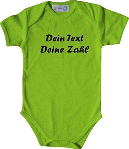 ShirtInStyle Kurzarm Babybody mit deinem Wunschdruck veredelt, Farbe lime, Größe 50-56