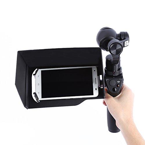 PIXNOR Parasole Antipolvere per 5.5 Pollici Smartphone Tavoletta DJI Osmo Fotocamera