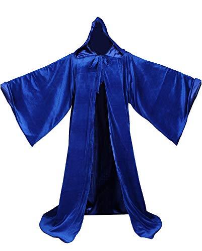 Lucky mjmy Terciopelo Mago Wicca Robe Gótico Abrigo