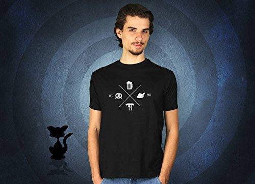 Bavarian - Herren T-Shirt von Kater Likoli Deep Black