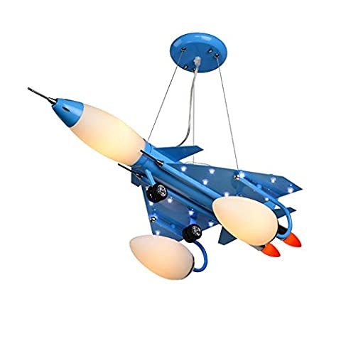 Eisen Flugzeug Hängeleuchte Farbe Malerei Deckenleuchte Safty Wasserfarbe Bruchteil Typ Schalter LED Nachtlichter E14 Lampe