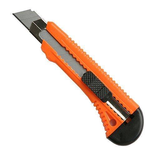 Cuttermesser mit 18mm Abbrechklinge und Metallschiene Teppichmesser Mehrzweck Messer Allzweckmesser Universalmesser
