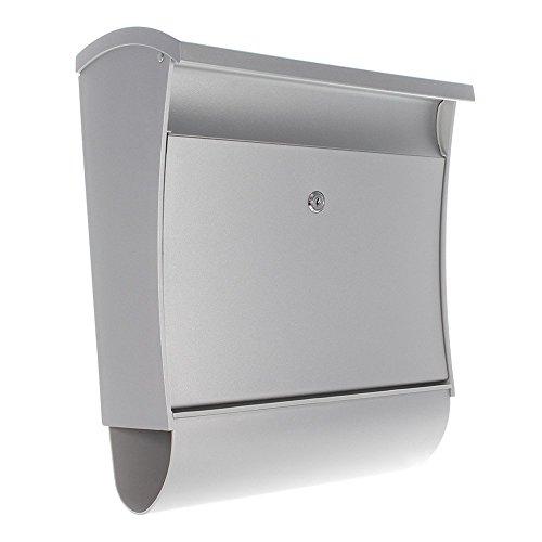 Profirst Mail PM 670 Kunststoff Briefkasten Silber