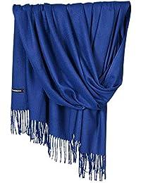 602eb383edbd zycShang Foulard Femmes Hommes Automne Et Hiver Monochrome Cachemire Pompon  Double Face Longue Section ÉCharpe ÉPaissir