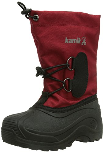 Kamik SOUTHPOLE3 Unisex-Kinder Warm gefütterte Schneestiefel Rot (RED-RED)