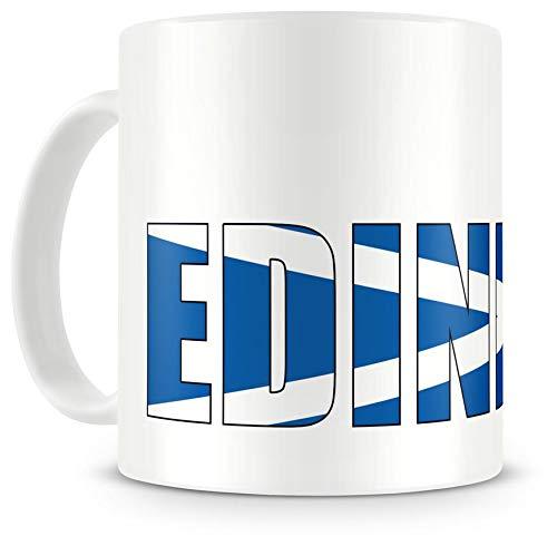Samunshi® Edinburgh Schriftzug Tasse Kaffeetasse Teetasse Schottland