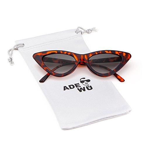 ADEWU Gafas de sol ojo de gato gafas de protección para niñas mujeres,  estilo vintage 127012fd20