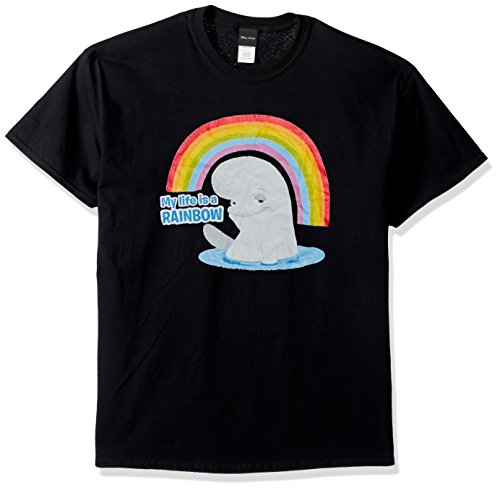 Disney Men's Finding Dory Bailey Life Is a Rainbow Graphic T-Shirt Shirt