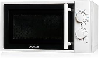 Cecotec Microondas All Black o White - Capacidad de 20l, 700 W de Potencia, Temporizador 30 min, Modo Descongelar,...