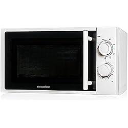 Microondas con grill, input 1200 W, output 700W, grill de 900W, 20 l, 9 niveles, Cecotec Grill