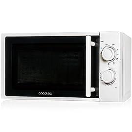 Forno a Microonde bianco con grill, input 1200 W, output 700W, grill da 900W, 20 l, 9 livelli, Cecotec Grill