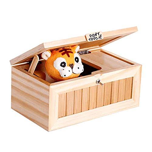 tzlos Gelb Karikatur Kreative Tiger Nutzlose Maschine Lustige Spielwaren hölzerne Witzmittel Toy Interaktives Spielzeug für Kinder ()