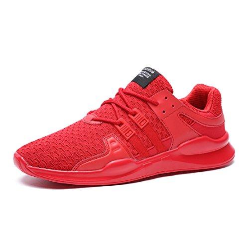 Damen Sneaker Low Rot Herren 1 NEOKER 36 Schwarz 46 Top Laufschuhe SqwXtnFUE