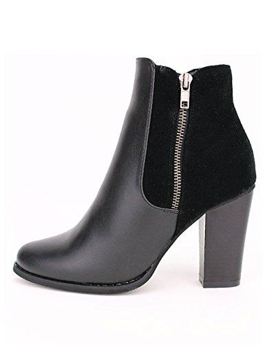 Cendriyon Bottine noire FDM MODE Chaussures Femme