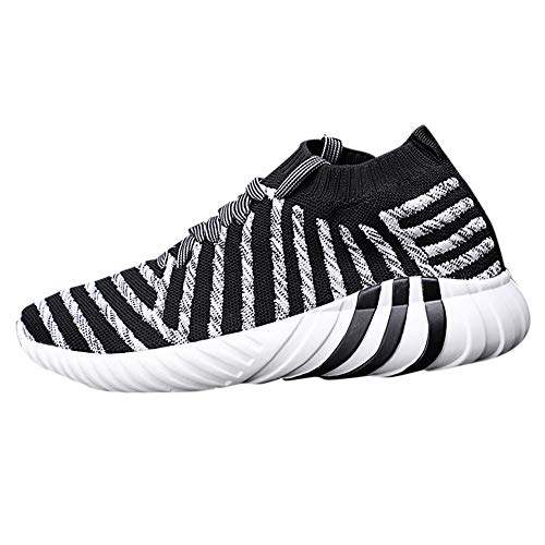 Holeider Sneaker Herren Laufschuhe Sportschuhe Atmungsaktiv Gemütlich Licht Freizeitschuhe Schnürschuhe Low-Top Socken Schuhe 3 Farbe 39-44, -