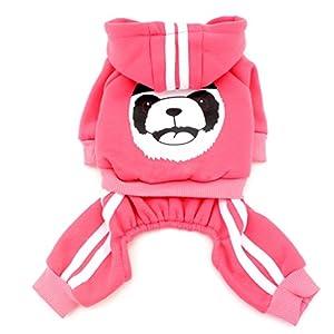 smalllee _ LUCKY _ Store pour petit chien vêtements pour filles garçons épais chaud Panda Sweat à capuche pour femme en polaire pour femme