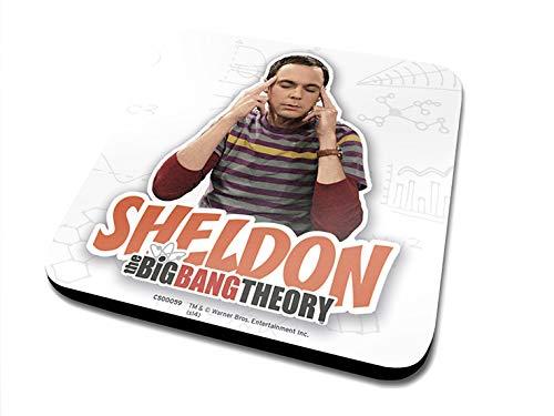 Pyramid International The Big Bang Theory Sheldon Officielle Dessous-de-Verre Housse de Protection en mélamine avec Base en liège, Multicolore, 10 x 10 cm