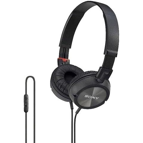 SONY DR-ZX-301IP pieghevole cuffie STEREO con sistema girevole con microfono per iPHONE, iPAD AND iPOD