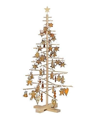 xmas3 M 125 cm Weihnachtsbaum aus Holz, natur, 68 x 68 x 125 cm
